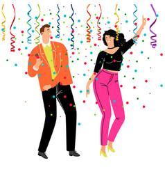corporate confetti party vector image