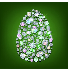 Diamond egg vector image
