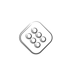Dice design element vector