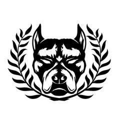 Dog breed pit bull terrier vector
