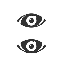 Eye icon isolated on white background vector image