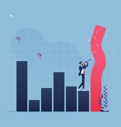 financial growth management concept vector image