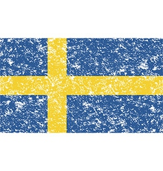 Flag of Sweden with old texture vector image