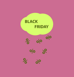 flat icon of black friday rain cloud vector image