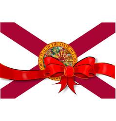 Florida state flag ribbon vector