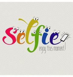 Funny selfie vector