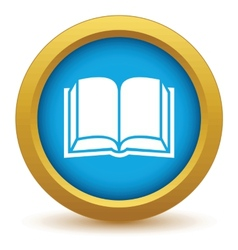 Gold book icon vector image