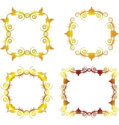 gold floral frame 1 vector image