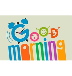 good morning flat style 2 vector image