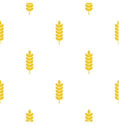 Grain spike pattern seamless vector