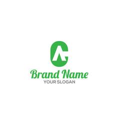 Green ca logo design vector