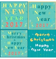 Greeting christmas and new year cards vector