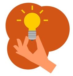 hand lamp vector image