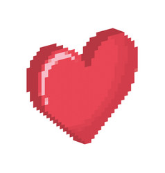 heart shape icon vector image