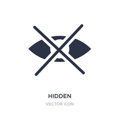 hidden icon on white background simple element vector image