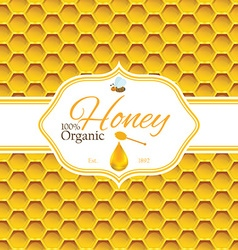 Honey label template for logo products vector