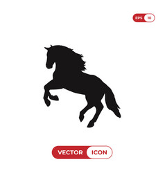 horse jumping icon vector image