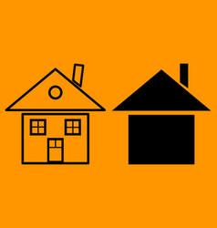 house icon home icon vector image
