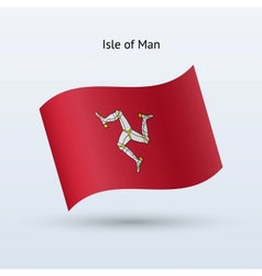 Isle of Man flag waving form vector image