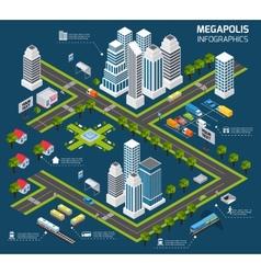 Isometric City Concept vector