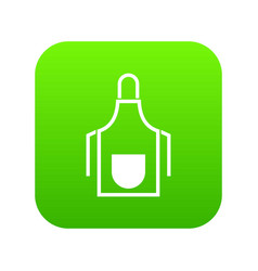 kitchen apron icon digital green vector image