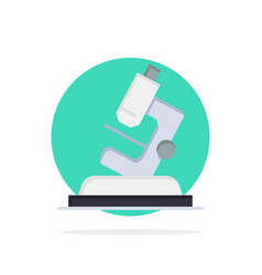 Lab microscope science zoom abstract circle vector