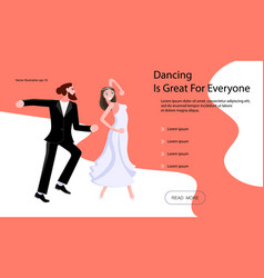 landing page templates for dancing blog vector image