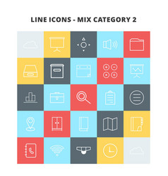 Line mix icons vector