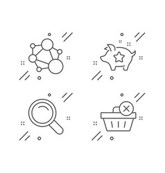 Loyalty points search and integrity icons set vector