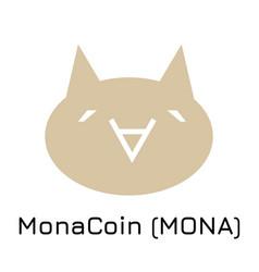 Monacoin mona crypto coin vector
