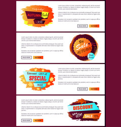 Only today autumn big sale 2017 best special offer vector