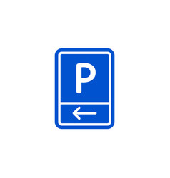 parking zone to left roadsigns isolated vector image