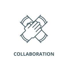 partnership collaboration line icon linear vector image