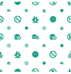 Prohibition icons pattern seamless white vector