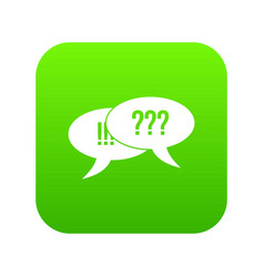 question and exclamation icon digital green vector image