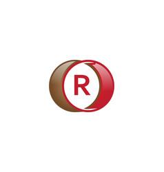 r letter circle logo vector image