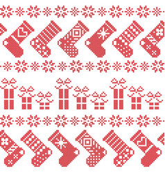 Scandinavian nordic christmas pattern with vector image