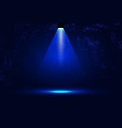 scene spotlight bright blue light vector image