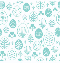 seamless minimal easter pattern with eggs vector image