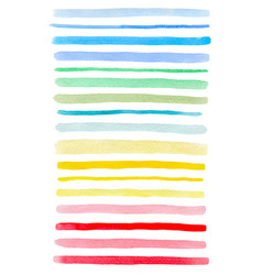 set of colorful watercolor lines vector image