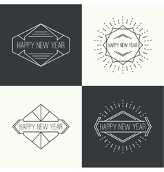 Set of vintage hipster banners vector