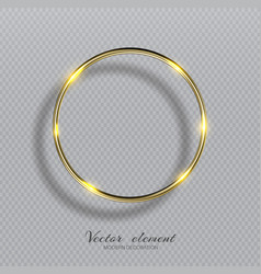shining golden ring abstract gold glowing round vector image