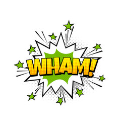 speech bubble wham pop art balloon vector image