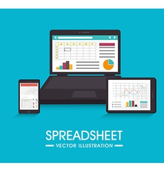 Spreadsheet design vector