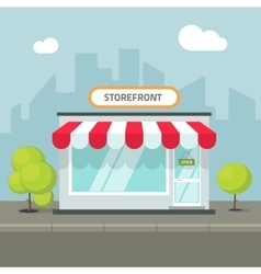 storefront in city store building on vector image