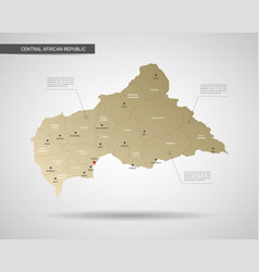 stylized central african republic map vector image