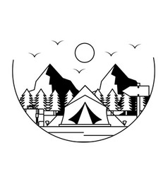 tent camping wanderlust image vector image