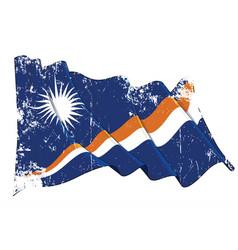 textured grunge waving flag marshall islands vector image