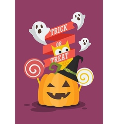 Trick or Treat Halloween poster vector image