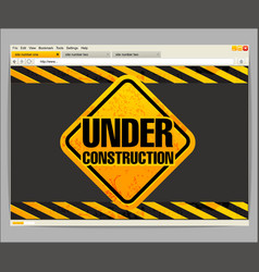 Under construction site template vector